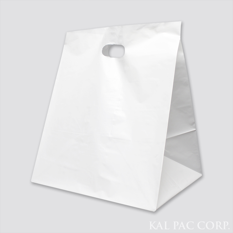 Die Cut Wide Gusset Take Out Bag