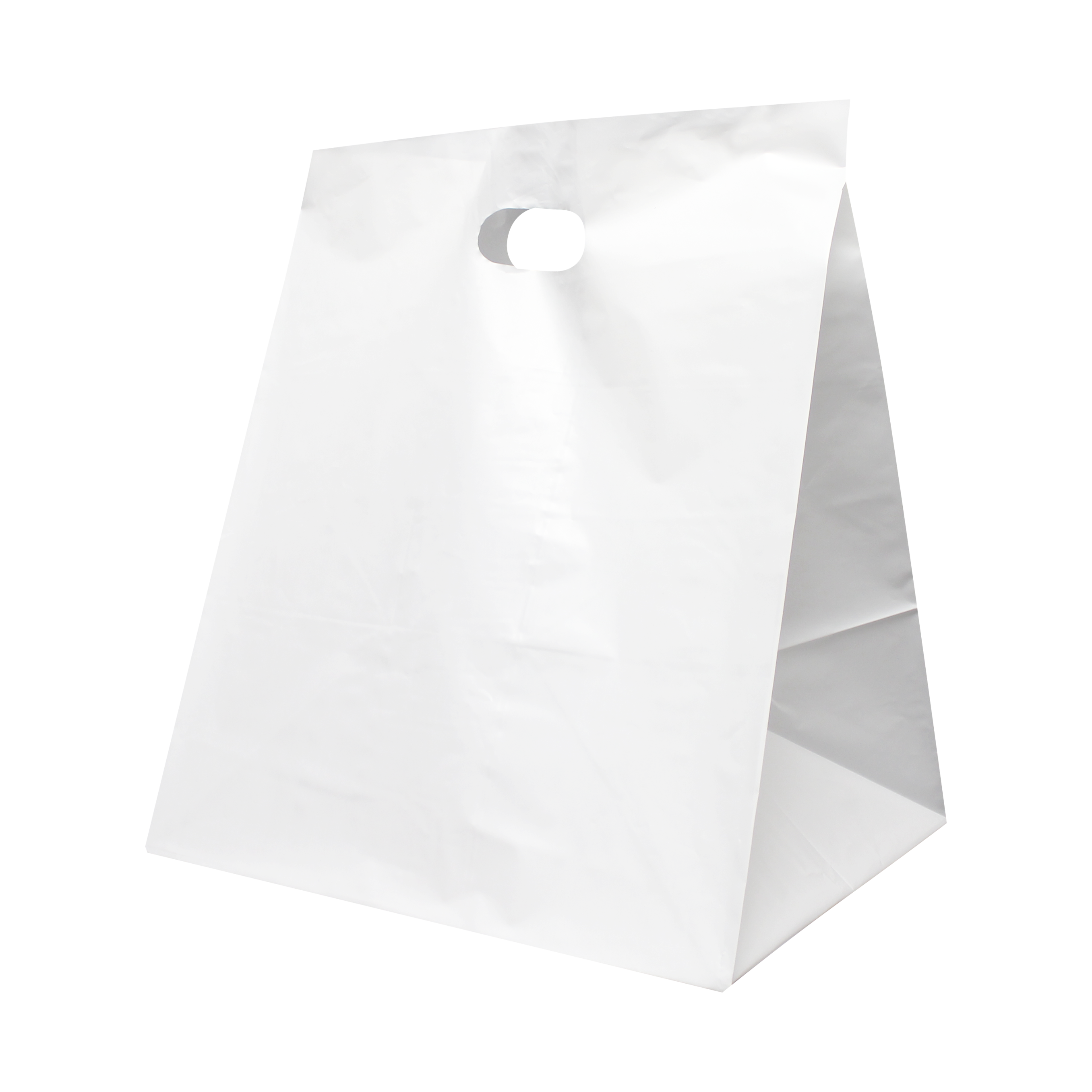Die Cut Wide Gusset Take Out Bag