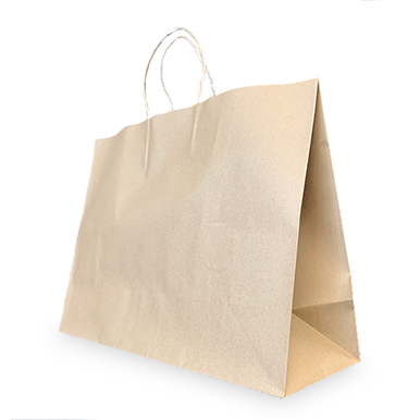 16x6x12 Uncoated Natural Kraft Stock Bag